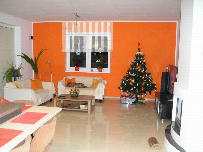 3d Visualisierung Als Helfer Vor Einer Realisation | Heimtex Ideen Orange Wand Wohnzimmer