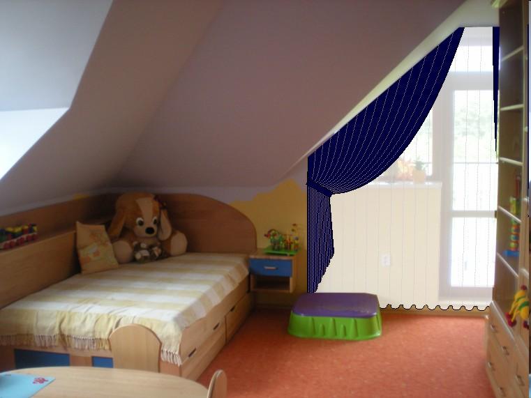 gardinen deko gardine befestigen dachschr ge gardinen. Black Bedroom Furniture Sets. Home Design Ideas