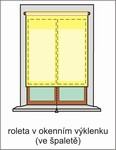 roleta v okenním výklenku