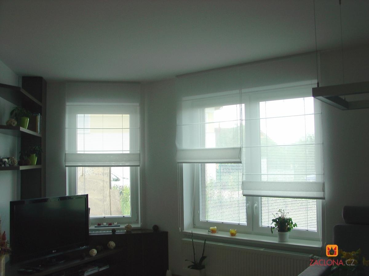 ungew hnliche kombination von raffrollos heimtex ideen. Black Bedroom Furniture Sets. Home Design Ideas