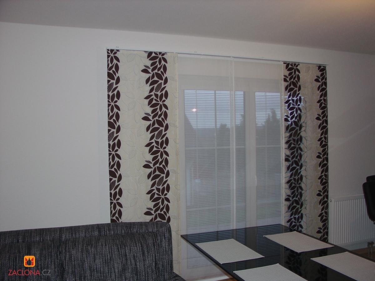schokoladenbraunes design der japanischen wand und raffrollos heimtex ideen. Black Bedroom Furniture Sets. Home Design Ideas