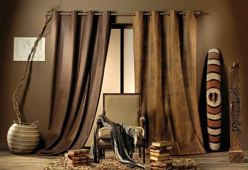 ein vorhang mit schiebe ringen der nach leder riecht heimtex ideen. Black Bedroom Furniture Sets. Home Design Ideas