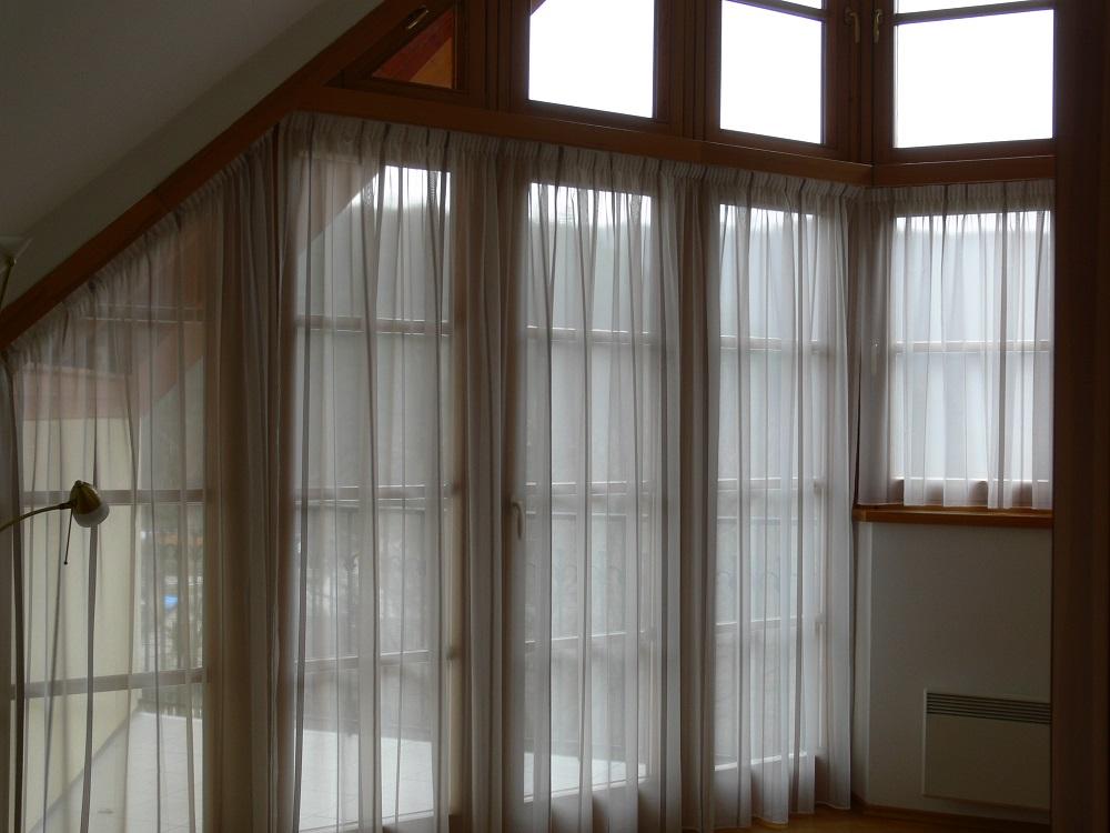 Gardinen Als Dekoration Für Atypische Eckfenster Heimtex Ideen