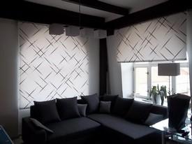bedruckte designer rollos heimtex ideen. Black Bedroom Furniture Sets. Home Design Ideas