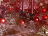 vánoce 2012 - červený ubrus