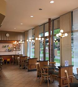 Japonské posuvné stěny v kavárně? Ale jistě!